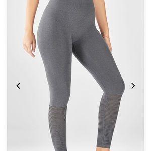 Fabletics seamless high-waisted mesh 7/8 leggings
